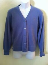 Vintage 30s 40 (before Izod Lacoste rare cardigan embroidered crocodile blue S M