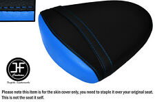 DESGN2 BLACK L BLUE VINYL CUSTOM FOR SUZUKI GSXR1000 K7 K8 07-08 REAR SEAT COVER