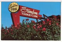 Strongbow Turkey Farm & Inn, Valparaiso, IN 1950s Roadside America Postcard