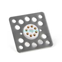 4pcs 8pin Tube Socket Shock Proof Flat Plate K8A Tube Base mounting