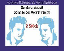Autoaufkleber -2 Stück Porträt Elvis Presley  links und rechts blicken 12cm!!