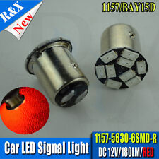 4X 9 LED 5630 TWIN FILAMENT RED LED STOP/TAIL LIGHT BULBS 1157 BAY15D P21/5W 380