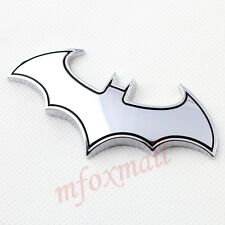 Vehicle Accessory 3D Chrome Silver Bat Emblem Badge Logo Sticker Decal Decorate