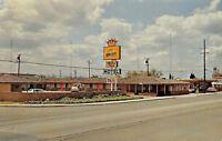 Manteca California~Motor Inn Motel~Town Country Restaurant~1960s Cars~Postcard