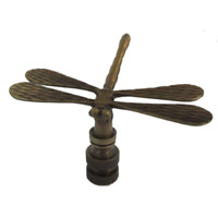 DRAGONFLY LAMP SHADE FINIAL ANTIQUE BRASS   #8