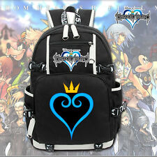 Kingdom Hearts Sora Heart Logo Canvas Backpack Laptop Shoulders Bag