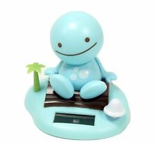 Solar Power Toy Blue Nohohon Smiling Sunny Doll on Island Beach Gift US Seller