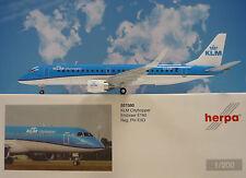 Herpa Wings 1:200 Embraer E190  KLM Cityhopper PH-EXD  557580