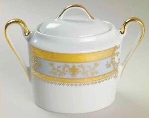 Deshoulieres 249453 French Porcelain Sugar Bowl White/Gold