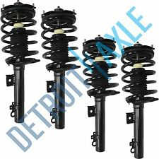 Set of 4 NEW Struts : 2 Front & 2 Rear Complete Strut W/Coil & Spring Assembly