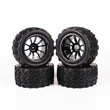 4PCS  For  RC 1:10 Monster Truck Rubber Sponge Bigfoot  Tires Tyre Wheel Rim HSP