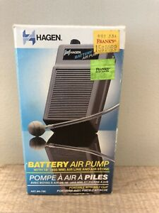 "New Hagen Battery Air Pump with 18"" Air Line and Air Stone Model A-790. Vintage"