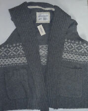Womens AEROPOSTALE Cable Knit Sweater Vest Gray Size XL NWT #9104