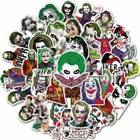 50pcs The Joker Anime Stickers Waterproof Clown Luggage Laptop Motorcycle Décor