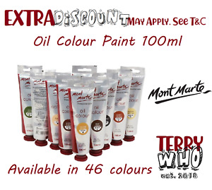 AU Mont Marte Oil Paint 100ml artist supply craft drawing christmas gift