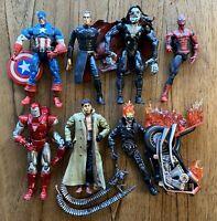 Marvel Legends Toybiz Broken Figures Lot Spiderman Ghost Rider Avengers Doc Ock