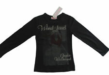 MBC ~ Girls Size 8 ~ New ~ Black FUNKY BABE Fitted Shirt with Long Sleeves