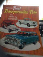 "Kaiser Jeep brochure 1965 ""Total Transportation Trio""  Mint Original - not repro"