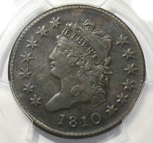 1810 Classic Head Large Cent PCGS AU Details