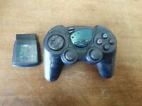 PELICAN Wireless Controller w/ Receiver Dongle PLAYSTATION 2 PS2 PL-606