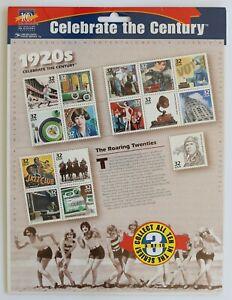 32c Celebrate the Century 1920s Souvenir Sheet of 15 1998 Scott #3184 Sealed