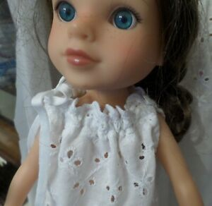 FITS WELLIE WISHES NIGHT GOWN WHITE EYELET FITS SIMILAR SZ DOLLS new