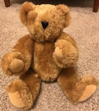 """VERMONT TEDDY BEAR Made in USA 17"""" Tall JOINTED No. 1 Brown"""