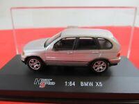 High Speed - BMW X5 - SILBER -  in Plexibox-Vitrine -  1:64