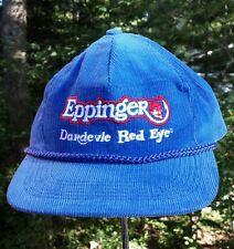 VTG EPPINGER DAREDEVLE Corduroy Trucker Snapback Hat Classic Fishing Spoon Lure