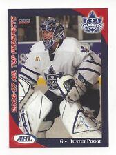 2006-07 AHL Top Prospects #45 Justin Pogge (Rögle BK)
