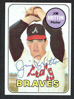 Jim Britton #154 signed autograph auto 1969 Topps Baseball Trading Card