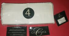 """4 CHARISMA KING PILLOWCASES ~ White Solid ~ NEVER OPENED ~ FOR 20 X 36"""" PILLOWS"""