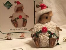 "Charming Tails ""Being Santa Is A Ball"" Dean Griff Nib Signed"