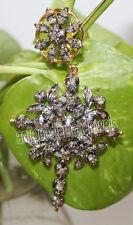 2.10cts ROSE CUT DIAMOND ANTIQUE VICTORIAN LOOK 925 SILVER  PENDANT