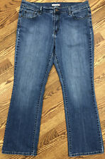 LEVI'S 515 Distressed Mom Bootcut Denim Blue Jeans Womens Sz 16