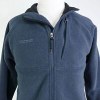 MARMOT LONG SLEEVE FULL ZIP UP BLUE POLYESTER FLEECE JACKET MENS SIZE L
