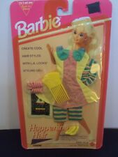 New Vintage 1993 Barbie Happening Hair Outfit Shoes L.A. Looks Gel Pick