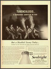 1940's Vintage ad for Sealright Sanitary Paper Milk Bottle Hoods (010713)