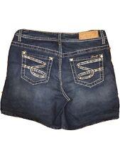 SEVEN 7 BLUE DENIM SHORTS Walking Shorts 5 Pockets SIZE 10