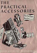 1954 ROLLEI ROLLEIFLEX & ROLLEICORD CAMERA ACCESSORIES BROCHURE -ROLLEI