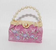 JC Penney PASTEL Pink Blue Green Pearl Lace HANDBAG Purse Ornament