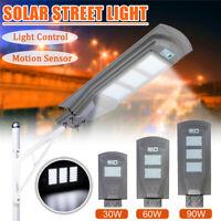 90W Solar Street Light PIR Motion Sensor+Light Control Outdoor Garden Wall Lamp
