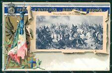Militari 49º Reggimento Fanteria Villafranca Doppia cartolina XF4990