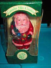 Vintage Lauscha Blown Glass Santa Christmas Ornament Germany