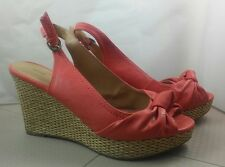 6d0f86dd6e8 apt 9 wedges 7 sandals platform sling back high heels bow Elastic buckle  slip on