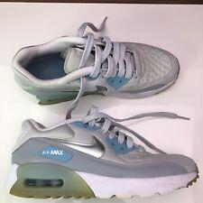 29c115cb58 Nike Air Max 90 Ultra SE Girls Size 3.5Y Platinum Silver Grey Blue 844600-