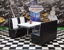 Bankgruppe Vegas King 4 American Diner 50er Jahre Retro 3 teilig Schwarz Weiß