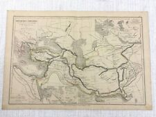 1877 Antique Map of Ancient Empires Persian Cyrus Darius Alexander The Great