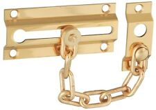 National Hardware V1926 Chain Door Guards in Solid Brass