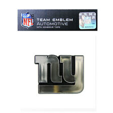 Promark New NFL New York Giants Plastic Chrome 3-D Auto Emblem Sticker Decal